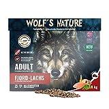 Wolf's Nature Getreidefreies Trockenfutter aus Norwegen in Lebensmittelqualität (Lachs - Adult, 8 kg)