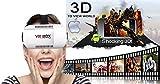 """Andoer Gioco di Film 3D VR Occhiali DIY cuffie Virtual Reality Privato con Testa-Monte Archetto Bluetooth 3.0 Remote Controller Universale per iPhone Samsung / All 3.5 ~ 6,0"""" Smart Phones"""