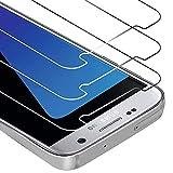 [3 Pièces] Zloer Samsung Galaxy S7 Protection Ecran Verre Trempé - [3D-Touch/9H Dureté] Couverture Complète Protection Ecran Samsung Galaxy S7 [Anti Rayures] [sans Bulles, Facile à Installer]