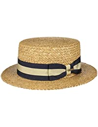 Stetson Sombrero Canotier Vintage Wheat Boater Mujer Hombre  fa183cce4c8
