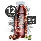 TRINKKOST ACTIVE - Der Eiweiß Protein Shake zum Abnehmen und Muskeln aufbauen - 12 Flaschen - kalorienarm Bio gesund mit 13 Vitaminen, 13 Mineralien und über 20 natürlichen Zutaten und Superfoods