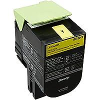 Lexmark 80C2HY0 Cartouche de Toner Laser pour Imprimante CX410/510 Jaune
