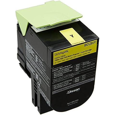 Lexmark 80C2HY0 - Tóner, capacidad 3000 páginas, color amarillo