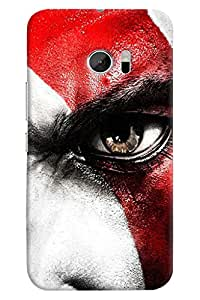 Omnam Boy With Closeup Eye Effect Printed Designer Back Cover Case For HTC 10