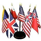 FlagandBanner Banderas de nuestros país bandera de miniatura Personal de bandera de Kit (4cm x 6cm/10cm)