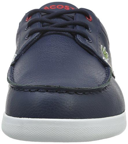 Lacoste Codecasa 316 1, Baskets Basses Homme Bleu (NVY/Red 144)