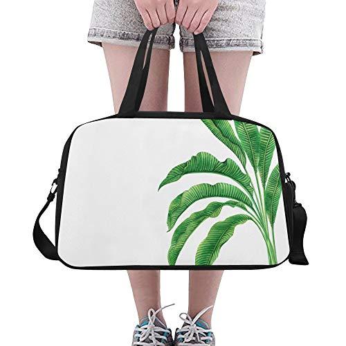 Yushg Grüne Natur Baum Blätter, große Turnhalle Totes Fitness Handtaschen Reise Seesäcke mit Schultergurt Schuhbeutel für Übung Sport Gepäck für die Frauen der Frauen im Freien malen