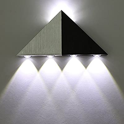 5W Led Wall Sconce Lights Triangle Shape Decorative Lamp For Bathroom Vanity Lighting