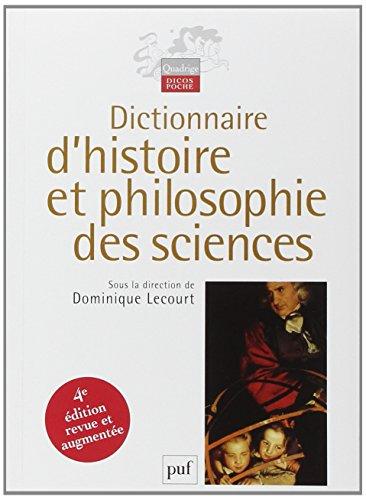 Dictionnaire d'histoire et philosophie des sciences par Thomas Bourgeois