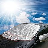 FEZZ Protezione Parabrezza Magnetico Antighiaccio Auto con Copertura Specchietto Laterale Anti Neve UV Gelo Parasole Protettore 147*126cm Taglia standard per Auto e piccolo SUV