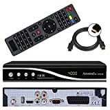 Amstrad HDTV Sat Receiver (USB, HDMI, Audio Cinch, Scart, DVB-S2) + GRATIS HDMI Kabel