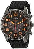 Seiko Watches SSC233 Montre bracelet homme Nylon Marron