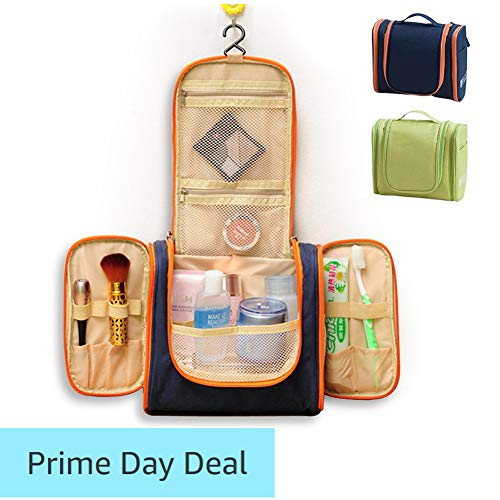 Waschtasche für Männer oder Frauen Kulturbeutel Unisex Kosmetiktasche groß mit vielen Taschen und Reißverschluss Wasserabweisend und leicht, Größe: 26.5 × 12 × 21 (cm)/10.43 x 4.72 x 8,27 (inch), dunkelblau