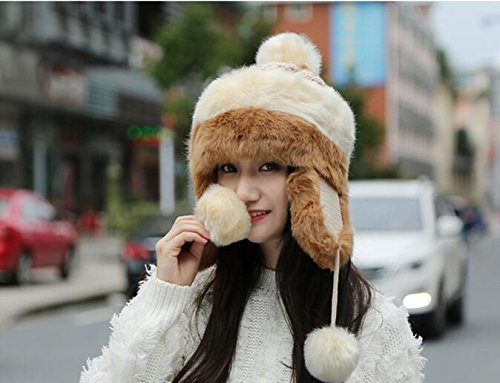 Ladies Womens Luxury Faux Fur Russian Cossack Hat Ski Winter Warm Cosy