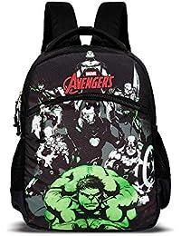 Priority Titan HD Avengers Group Black Casual Backpack|Kid's School Bag
