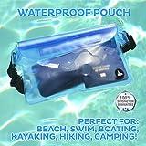(2 Pack) Wasserdichte Tasche Beutel Handyhülle für Taille oder Schulter ideal zum Segeln, Wandern, Schwimmen, Angeln – sicherste Weg, Ihre Produkte trocken – 100% Garantie auf Lebenszeit - 2