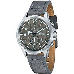 AVI-8 AV-4001-07 - Reloj cronógrafo de cuarzo para hombre con esfera analógica y correa de cuero, color gris