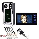 ZHANG 9 Zoll Fingerprint IC Karte Video-türsprechanlage Sprechanlage Türklingel mit Tür Access Control System Nachtsicht Sicherheit (Eine Kamera + EIN Monitor)