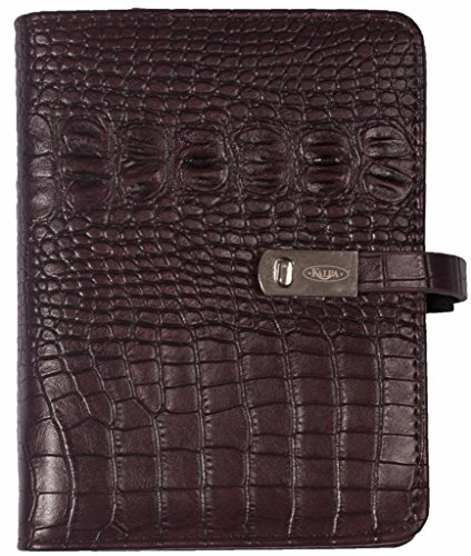 1401-53 Kalpa Mini Organiser with 2018 faux Leather 4 Card 2018 Organiser - Croco Burgundy