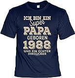 Cooles T-Shirt zum 31. Geburtstag T-Shirt Ich Bin EIN super Papa geboren 1988 Geschenk zum 31 Geburtstag 31 Jahre Geschenkidee 31-jähriger