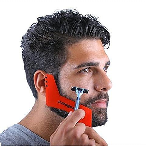 MARGUERAS 1PCS Pochoir à Barbe Peigne guide barbe à modeler All-In-One Facial Hair Trimmer Tool