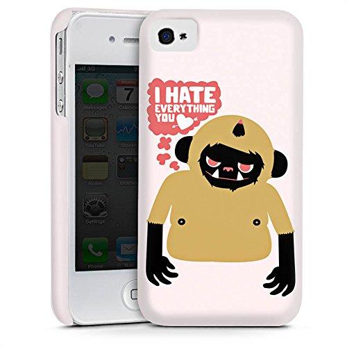 Apple iPhone 5s Housse Étui Protection Coque Monstre Phrases Amour Cas Premium mat