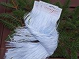 Weißes Lametta 50cm glatt Winterliche Atmosphäre auf Ihrem Weihnachtsbaum