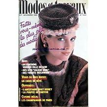 MODES ET TRAVAUX [No 1020] du 01/11/1985 - DES PATRONS VERSION VILLE OU SOIR - DES KITS VALEUR SURE - DES TRICOTS PATCHWORK - VRAIS OU FAUX BIJOUX - OUVRAGES - WALT DISNEY - LA POUPEE DE CHIFFON - CUISINE -REGAL - LES CHAMPIGNON DE PARIS