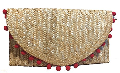 Cartera Palma Mano De En Mano Bolso Natural Color Clutch rwrpZfHxq
