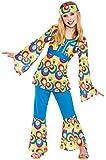 Mädchen Retro Hippie Mädchen Fancy Dress Kostüm Halloween Kind Outfit 70s