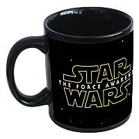 Tazza in cermica di Kylo Ren tratta da Star Wars con logo e licenza ufficiale, stampa dettagliata, consegna in confezione regalo, capacità 300 ml, altezza 9,4 cm, colore nero.
