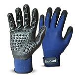 Youmal Premium Fellpflege-Handschuh 2 Stk. (M) – Perfekt als Fellbürste, Massagehandschuh und Tierhaarentferner - für Hund, Katze, Pferd