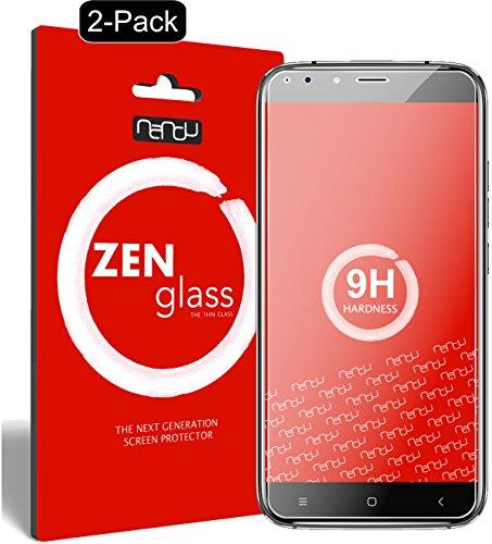 nandu I ZenGlass [2 Stück] Flexible Glas-Folie für Oukitel U22 5,5 Zoll Panzerfolie I Bildschirm-Schutzfolie 9H I (Kleiner Als Das Gewölbte Bildschirm)