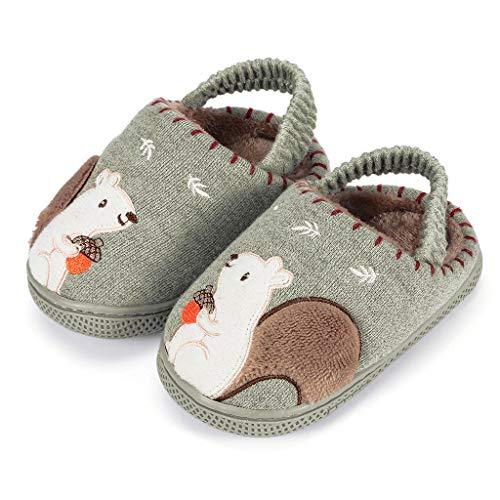 FELZ Zapatillas De Casa Niños Ninas Invierno Zapatos Calzado Interiores Caliente Suave Pantuflas Infantil...