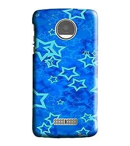 Hi-Me Designer Phone Back Case Cover Motorola Moto Z :: Motorola Moto Z Droid in USA ( Bright Lucky Blue Star Design )