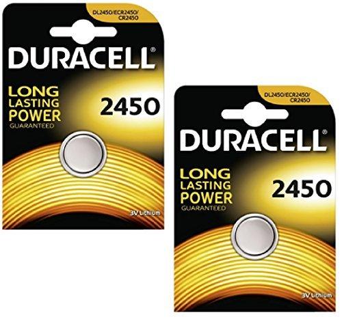 Duracell CR2450 Knopfzelle, Lithium, 3V, in Klarsichtpackung, 4Stück