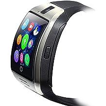 ZOMTOP Q18 Smart Watch Phone Appareil photo Bluetooth SIM TF Card Smartwatch pour Android Samsung LG Google Pixel et iPhone 7 7Plus 6 6s 6s Plus (Argent)