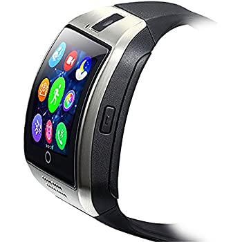 ZOMTOP Q18 Smart Watch teléfono Bluetooth cámara SIM TF Tarjeta SmartWatch para Android Samsung LG Google Pixel y iPhone 7 7Plus 6 6S 6S Plus (Plata)
