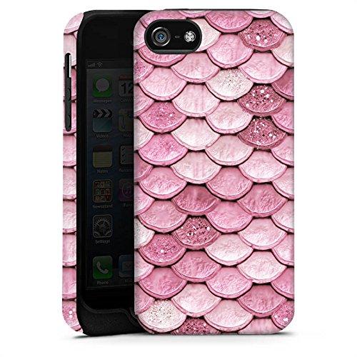 Apple iPhone 7 Plus Silikon Hülle Case Schutzhülle Schuppen Meerjungfrau Mermaid Tough Case matt