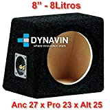 "Caja acústica universal para subwoofer de 8"" (200mm), 10"" (250mm), 12"" (300mm), 15"" (380mm), 18"" (450mm) (8"", Negro)"