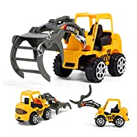 Mini Engineering Car Tractor Toy Dump Truck Model Classic Toy Alloy Car Children Toys Engineering Vehicle - Yellow
