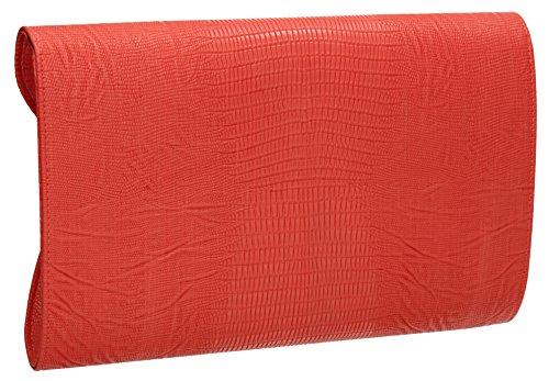 SwankySwans, Poschette giorno donna rosso Red Coral
