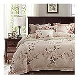 CSYPYLE Bettwäsche-Sets Kreative Chinesischen Stil Gardenia Blumenmuster Komfortable Weiche Bettlaken Kissenbezug Bettwäsche-Set, 2,0 Mt