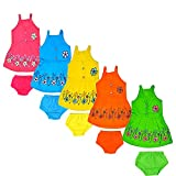 #10: Vinab Baby Girls Dresses (SIZE: 0-6 Months) (Pack of 5)