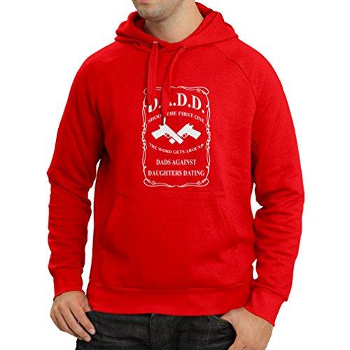 Felpa con cappuccio Dads contro figlie risalenti camicie pullover per il papà regali divertenti per gli uomini Rosso Bianco