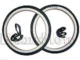 RMS - Lot de 2pneus de vélo 20x 1.75 + 2chambres à air - Blanc et noir