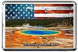 0105 YELLOWSTONE NATIONAL PARK KÜHLSCHRANKMAGNET USA LANDMARKS, USA ATTRACTIONS REFRIGERATOR MAGNET