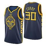Uomo NBA Warriors 30 Curry Retro Camicia da Basket Summer Jerseys Basket Maglie Uniforme Ricamo Avanzato Top