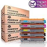 HaloFox 5 Tonerkartuschen TN241 / TN245 für Brother HL-3140CW HL-3142CW HL-3150CDW HL-3152CDW HL-3170CDW HL-3172CDW MFC-9130CW MFC-9140CDN MFC-9340CDW MFC-9330CDW DCP-9015CDW DCP-9020CDW
