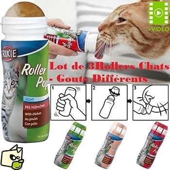 lot de 3 roller pop (3 gouts) pour chat